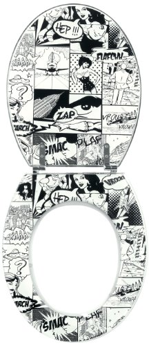 Wirquin 20718841 Trendy Line - Tapa para inodoro, diseño de cómic