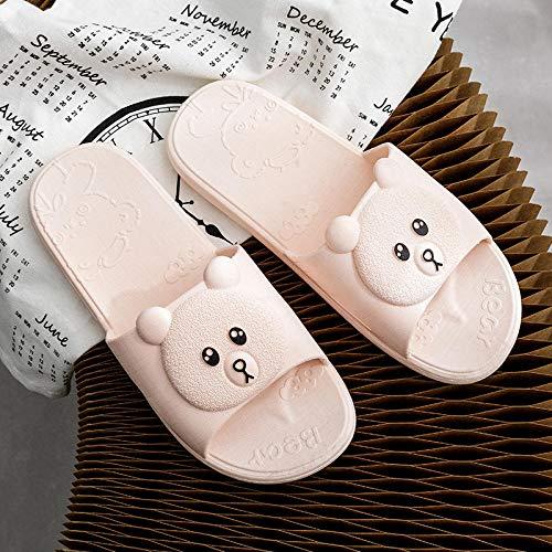 Sandalias ortopédicas,Sandalias de baño de Interior para el hogar, Sandalias de baño Antideslizantes de Fondo Suave y Zapatillas-Pink_38-39,Pantuflas Transpirables