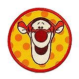 Winnie the Pooh Tigger Button – - Parches termoadhesivos bordados aplique para ropa, tamaño: 6 x 6 cm
