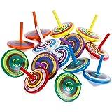 Faburo 14 Stück Kreisel aus Holz,Holzkreisel, Farbmischung