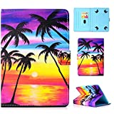 UGOcase Universal Case for 6.5'-7.5' Tablet, PU Leather Slim Protective Folio Cards Pocket Pencil Holder Cover for Fire 7, Nextbook, NeuTab, ProntoTec, Dragon Touch, Samsung and More, Sunset