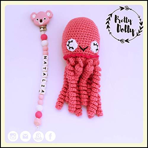 Pulpo amigurumi para recién nacido disfrazado de payaso. Pulpo | Etsy | 500x500