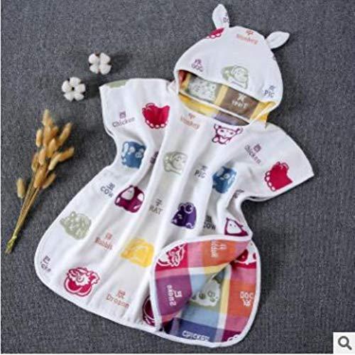 60 * 60cm 6 lagen gaas strandlaken met capuchon katoen baby cape handdoeken zachte poncho kinderen badspullen voor baby's washandje # 8,22