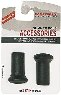 Komperdell Rubber Regular Walk Tip for Trekking Pole, Black by Komperdell