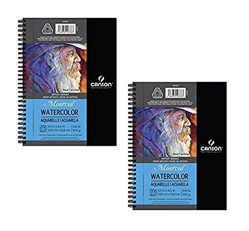 Canson Artist Series Watercolor Pad, 2 Pack Side Wire