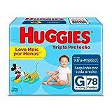 Huggies Fralda Tripla Proteção Hiper G, 78 Fraldas