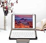 ASHATA Funda Protectora Estuche PU Cuero para Tableta/iPad con Teclado Bluetooth,Funda con Soporte Impermeable Universal para Teclado Inalámbrico para Teléfono Móvil de 9.7-10.1 Pulgadas