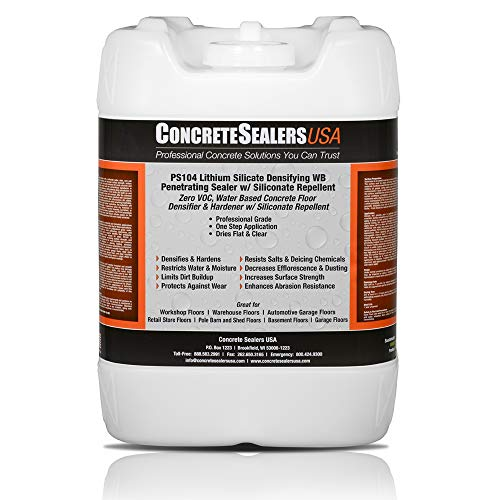 PS104 Lithium Silicate Densifying WB Penetrating Sealer w/Siliconate Repellent (5 Gallon)