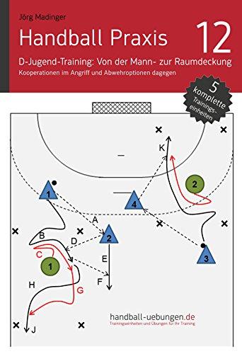Handball Praxis 12 - D-Jugend-Training: Von der Mann- zur Raumdeckung: Kooperationen im Angriff und Abwehroptionen dagegen (handball-uebungen.de / Praxis)