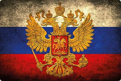 generisch metalen bord 30 x 20 cm Rusland Russische vlag vlag retro vintage bord