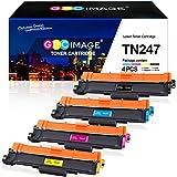 GPC Image TN247 TN243 Cartucho de tóner Compatible para Brother TN-247 TN-243 para Brother DCP-L3550CDW DCP-L3510CDW MFC-L3750CDW MFC-L3730CDN L3710CW L3770CDW HL-L3210CW L3230CDW L3270CDW (4-Pack)