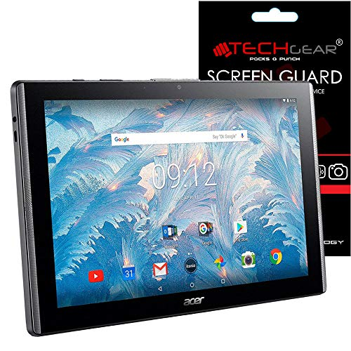 TECHGEAR [Pack of 3] Screen Protectors for Acer Iconia One 10 with Model B3-A40 - Clear Lcd Screen Protector Guard Covers With Screen Cleaning Cloth & Application Card