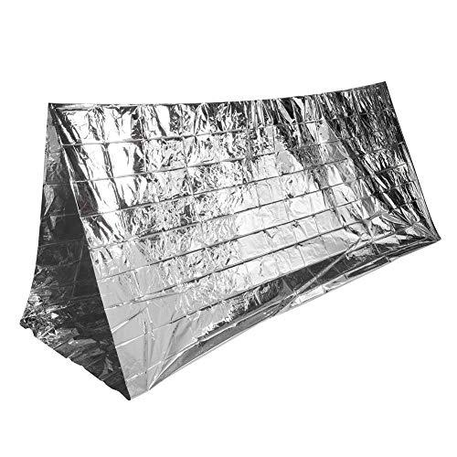 Générique d'urgence Tente de Survie Abri Réfléchissant en Plein Air Couverture de Survie Sac de Couchage Bracelet de Survie Paracord pour Camping Randonnée Sportive