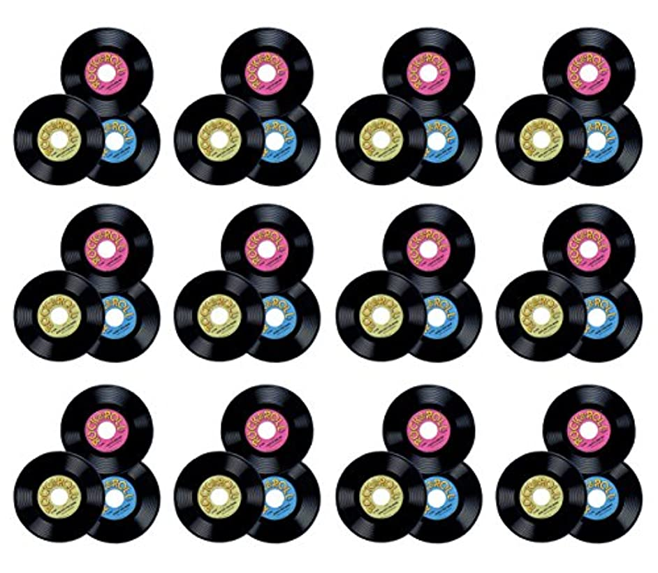 Beistle 55214 36-Pack Plastic Records, 9-Inch