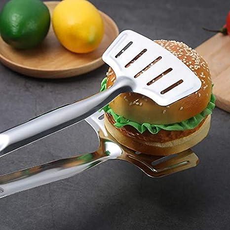 steak Multifonction Pour cuisine toast pizza GUOXIANG Pince /à barbecue en acier inoxydable pain 12 x 31,5 cm restaurant Pince /à saucisses b/œuf Accessoire professionnel pour barbecue