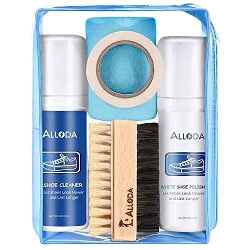 Shoe Cleaner+Shoe whitener, Sneaker Cleaner, Brush-Shoe Cleaning Kit, Alloda (clear)