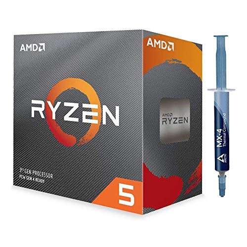 Special Bundle - AMD 100-100000031BOX Ryzen 5 3600 6-Core, 12-Thread Unlocked Desktop Processor with Wraith Stealth Cooler + Arctic ACTCP00002B MX-4 4G 2019 Edition Thermal Compound (4.0 g)