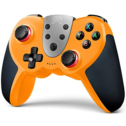 TERIOS Wireless Controller Compatible with Nintendo Switch, Switch Lite – Premium Joypad for Video Games – 3 Levels of Turbo Speed – NFC Technology–Adjustable Vibration Intensity (Yellow & Black)