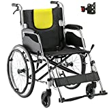 Lightweight Foldable Self-Propelled Transport Wheelchairs with Handbrakes for Adults