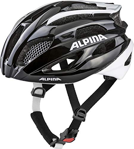 Alpina FEDAIA Casque de vélo Adulte Unisexe, Black-White, 58-63