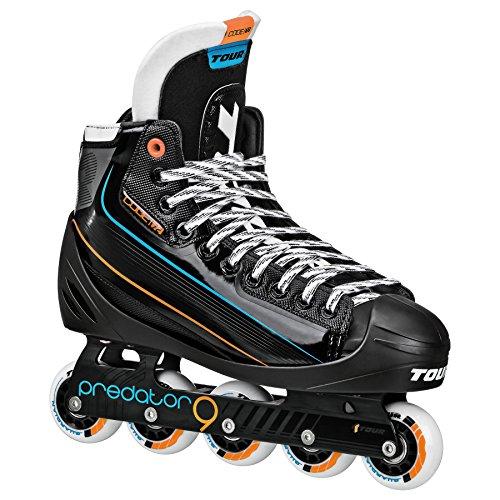 Tour Hockey Code 72 Inline Goalie Skate, Black, 09