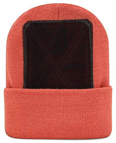 BACKSPIN Function Wear - Headspin Beanie Cap Farbe Korallenrot, Größe One Size
