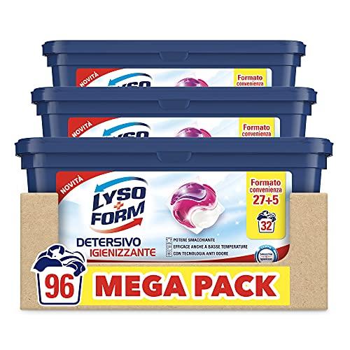 Lysoform Detersivo Igienizzante Lavatrice in Capsule Maxiformato Risparmio da 96 Lavaggi