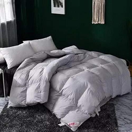 Hahaemall Duvet Clips All Seasons Duvet Insert Classic Quilt Hypoallergenic 100% Cotton Shell Down Proof- Classic -Anti-allergy - Cooling - Duvet Quilt-gray_200x230cm-3500g