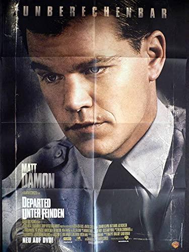 Departed - Unter Feinden - Matt Damon - Videoposter A1 84x60cm gefaltet