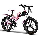 Bicicletas Triciclos Niños Y Niñas De 18/20/22 Pulgadas Plegables para Niños Montaña De Velocidad Variable para Estudiantes Frenos Sensibles
