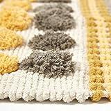 Homescapes moderner Chenille Teppich Läufer grau senfgelb 66 x 200 cm Circles & Stripes Küchenläufer - 3