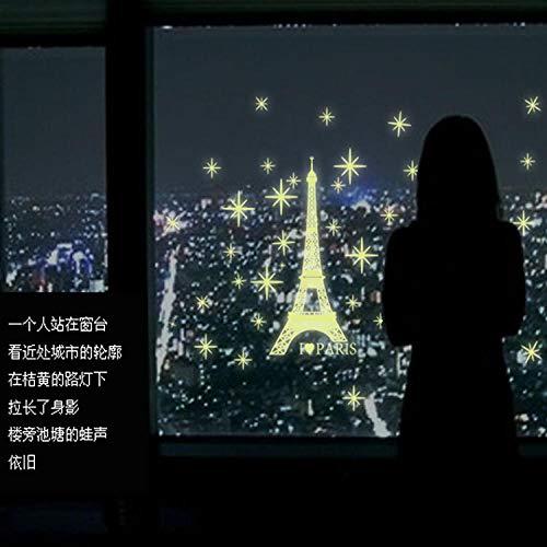 Wandtattoos PVC selbstklebend Paris Tower Leuchttattoos Diy Stickers Kinderzimmer Leuchttattoos
