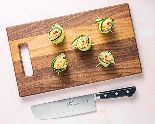 Mercer Culinary MX3 Premium San Mai VG-10 Steel Core Blade Nakiri Knife, 185mm 7 Inch