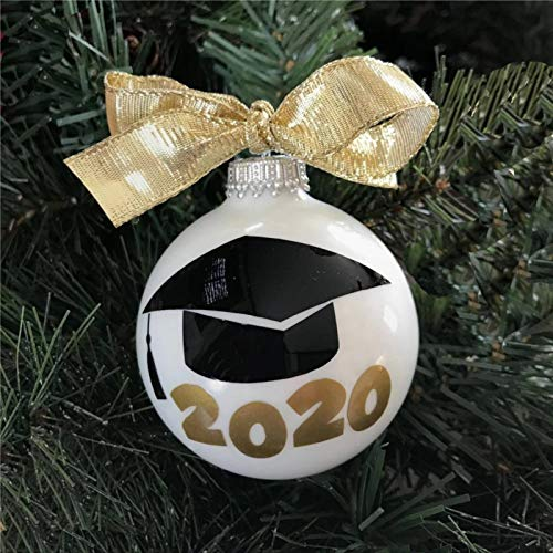 DONL9BAUER 2020 Graduation Acrylic Christmas Ball Ornament, Christmas Bauble Tree Ornament with presents for Church Members,Holiday,Family & Friends.