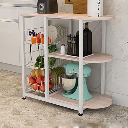 Kitchen furniture - Support de four à micro-ondes de ménage à poser au sol simple support d'appareil électrique WXP (Couleur : C, taille : 80X38X81CM)