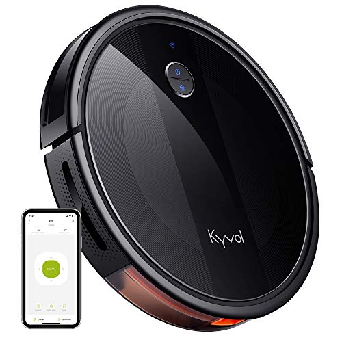 Kyvol Cybovac E20 Robot Vacuum Cleaner, 2000Pa Suction, 150 min Runtime, Boundary Strips Included, Quiet, Slim, Self-Charging, Works with Alexa, Ideal for Pet Hair, Carpets, Hard Floors (Black)