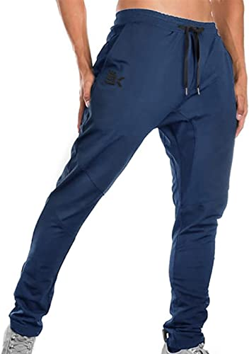BROKIG Mens Joggers Sport Pants, Casual Gym Workout Sweatpants with Double Pockets