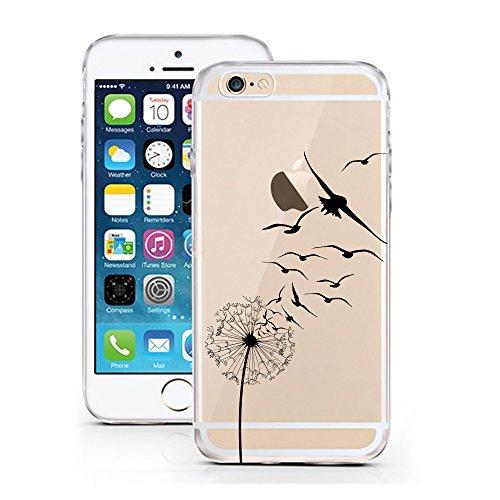 iPhone Cover di licaso per Il Apple iPhone 7 & 7S di TPU Silicone Dente di Leone Deglutire Modello Molto Sottile Protegge Il Tuo iPhone 7 & con Stile Cover e Bumper (iPhone 7, Cupcake)