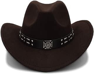 Sunhat Sun Hat Cool Western Cowboy Hats Men Sun Visor Cap Women Travel Western Hats Chapeu Cowboy Equestrian Cap (Color : Coffee, Size : 56-58cm)