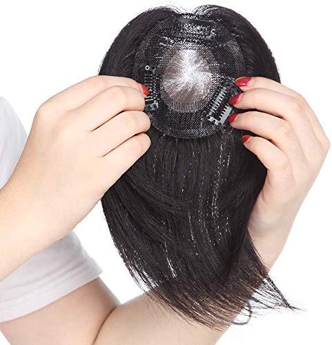 potente para casa Prótesis de cabello grueso SEGO de 15 cm # 1B negro para mujeres con pinzas para extensiones de cabello humano …