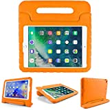 Kids Friendly Case for Huawei MediaPad T3 9.6', Light-Weight EVA Soft Foam Durable Rugged Shockproof Kidsproof Foldable Convertible Handle Kickstand Cover for Teenages - Orange