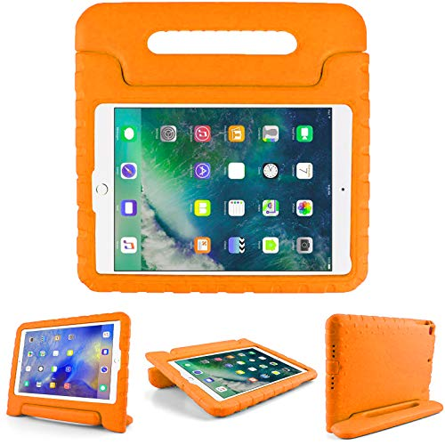 Kids Friendly Case for Samsung Galaxy Tab A 8'(T290/T295), Light-Weight EVA Soft Foam Durable Rugged Shockproof Kidsproof Foldable Convertible Handle Kickstand Cover for Teenages - Orange