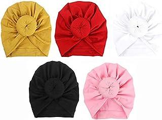 Glitz 5 Pack Headbands Hairbands Baby Headbands Baby Turban Headwraps Hats Turban Bun Knot Baby Infant Beanie Baby Girl So...