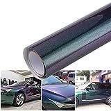 ATMOMO Gloss Purple to Charming Green Metallic Chameleon Vinyl Wrap Film DIY Sparkle Car Decal Film, 59.8'' x 7.87''