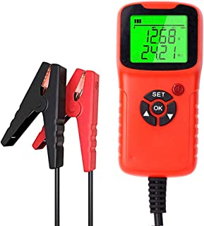 mewmewcat Testador de carga de bateria de carro, analisador 12V 2000CCA Teste de tensão de bateria, circuito de carga Test...