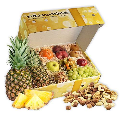 Obstbox Balance-Snack mit frischem Obst für einen lieben Gruß in klassischer Geschenkbox für eine gesunde Ernährung (Die Goldene)