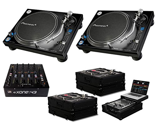 Amazing Deal 2x Pioneer PLX-1000 + Xone:43 + Black Label Cases + Glide Style Case