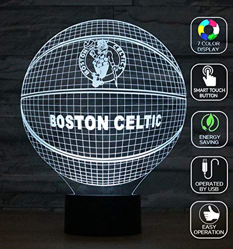 Lucky2Buy Phone Remote Control Optical Illusion Millennium Falcon Decor Toy Lamp (Celtics)