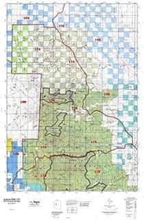 Arizona 17A Hunt Area / Game Management Units (GMU) Map