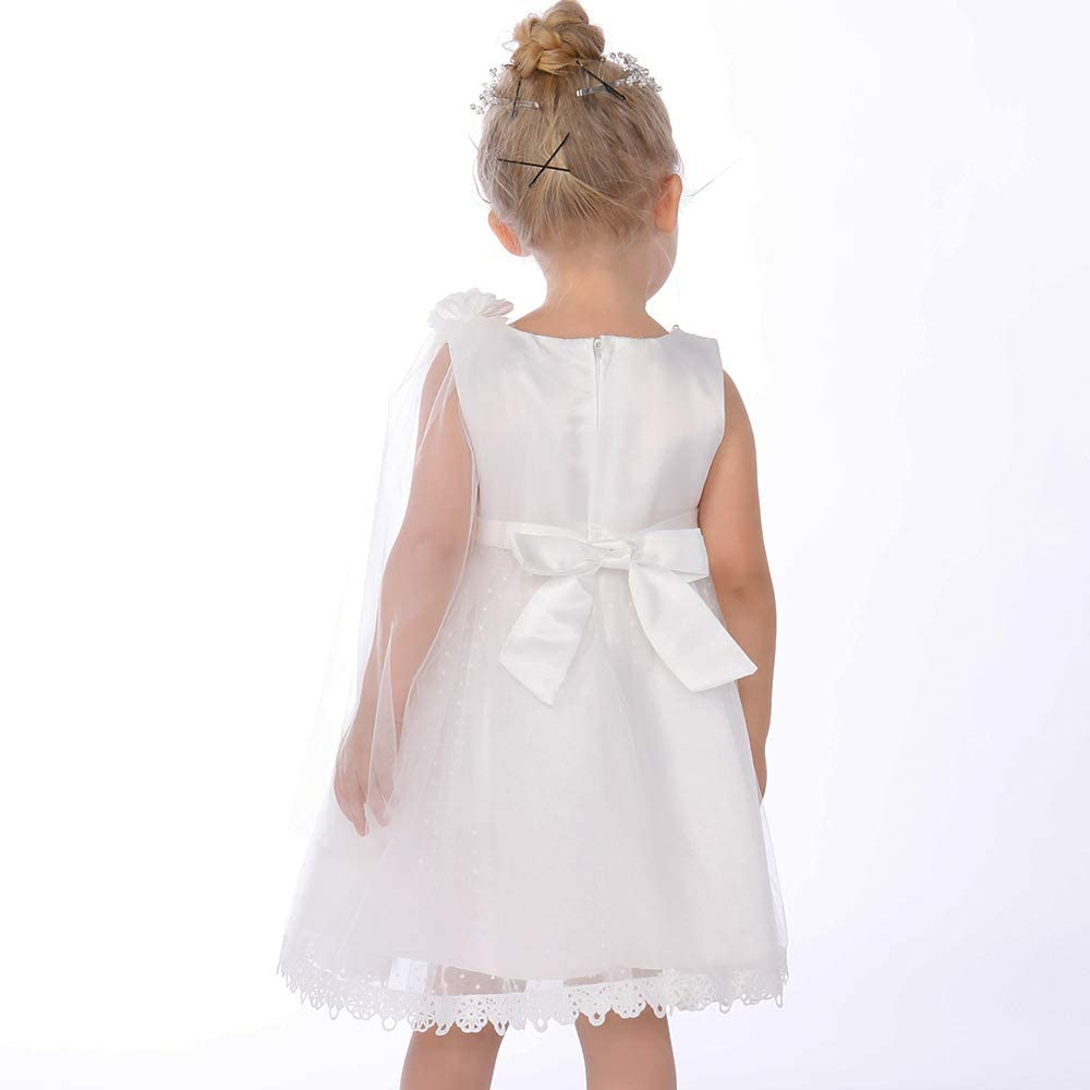 Booulfi Toddler Baby Girls Dress Formal Gowns Birthday Pageant Princess Lace Wedding Dress
